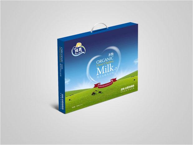 圣牧牛奶包装